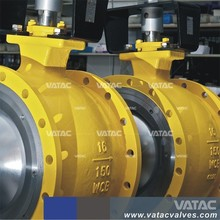 API6D Casting Steel Gear Operated Flanged Type Segment Ball Valve