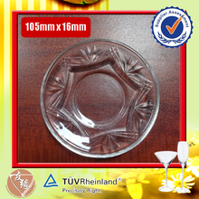 round clear glass charger plates 105mm diameter, 16mm height