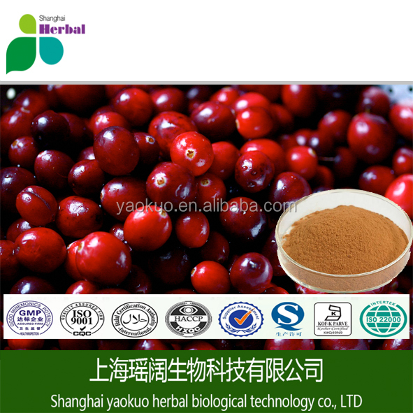 100% natural plant extract anthocyanin 25% Cranberry fruit extract