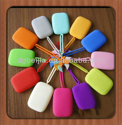 colorful designed silicone pouch for key in home use