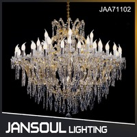 Jansoul large 42 lights K9 crystal classic Maria Theresa style pendant lamp chandelier for banquet