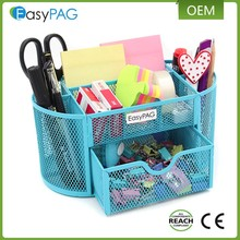 office &amp school supplies 0.4kg metal wire mesh desk organizer pen holder