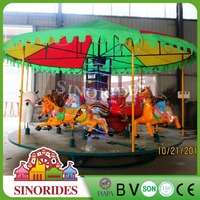 Amusement park toys coined operated carousel coin children machine