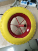 Yinzhu manufacturer environmental wheel pu solid wheel 4.80/4.00-8 for wheel barrow
