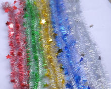 Wholesale christmas decorations outdoor/indoor tinsel garland