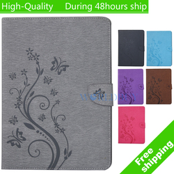 For Apple iPad Mini 2 3 Emboss Lavender Flower Fashion Painted With Stand Flip PU Leathers Case Smart Case