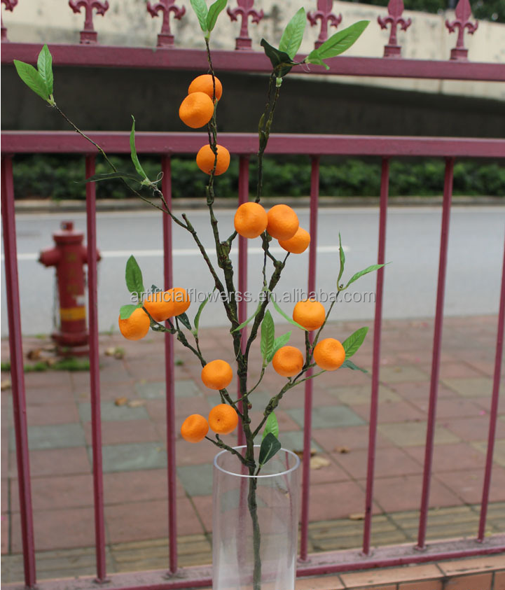 New arrival christmas decorations artificial fruit orange for Fruit orange decoration