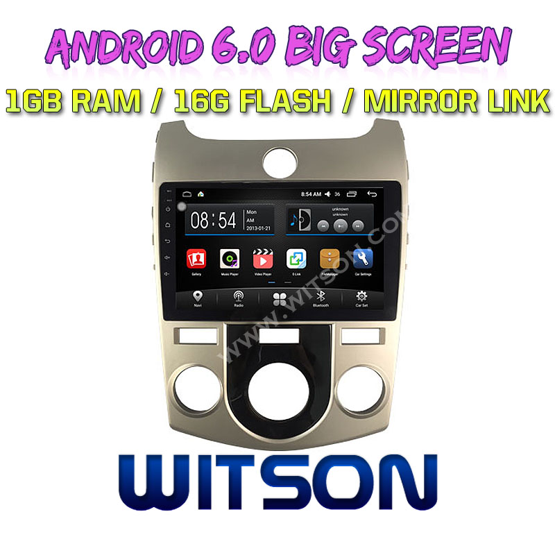 "WITSON 9"" BIG SCREEN ANDROID 6.0 AUTO RADIO DVD PLAYER GPS FOR KIA FORTE HAND A <strong>C</strong> MIRROR LINK <strong>1080P</strong> HD PICTURE IN PICTURE"