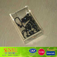 Professional Custom Crystal Acrylic Jewelry Box With Lid Manufacturers