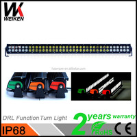 fancy light glass 216w black cover double row light bars for security cars