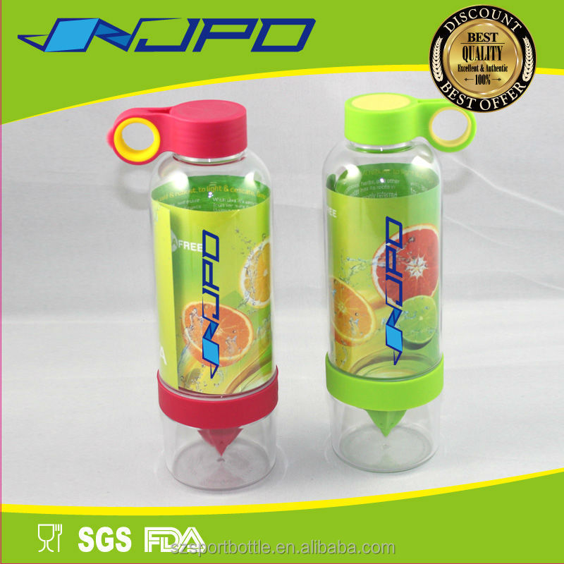 FDA approved 26oz bpa free clear fruit flavor water, OEM logo