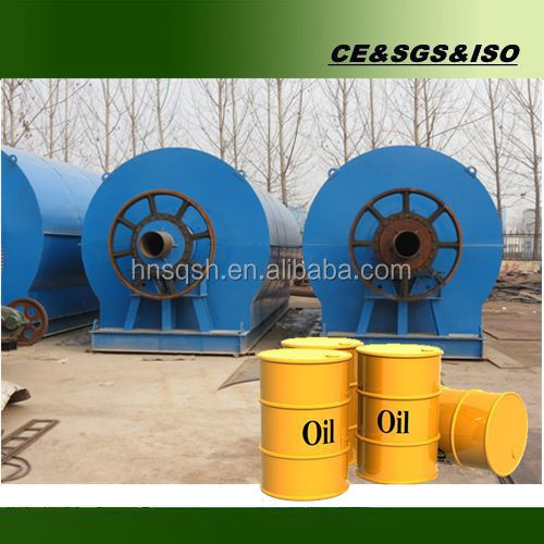 10 tons waste tyre pyrolysis plant to fuel oil with pollution free