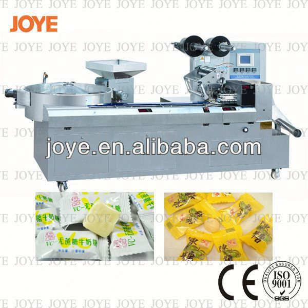 Lollipop Packing Machine/Candy Flow Wrap Packaging Machine JY-1200/DXD-1200 For Sale