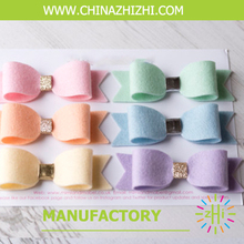 Walmart Cheap High Quality Boutique Girls Baby Hair Bows Grosgrain Hair Bows With Elastic Band
