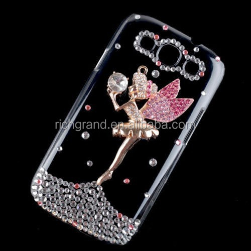 Bling diamond hard mobile phoen back case cover for Samsung galaxy S3 i9300