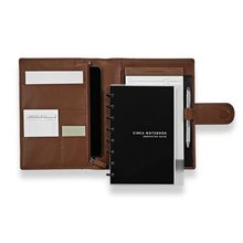 Custom Emboss/Deboss Logo Document File Folder A4 Leather Portfolio Folders with Snap Closure