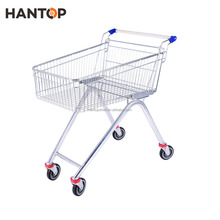 Metal Unfolding Supermarket Cart 70L Supermarket Shopping Trolley HAN-E70 5599