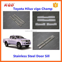 chrome car door sill for used toyota hilux vigo,toyota vigo parts door sills scuff plate for toyota hilux pickup 4x4 accessories