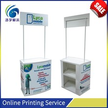 Plastic foldable demo stand promotion counter table