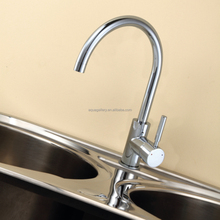 Single Handle Chrome Finish 2 Way Kitchen Faucet