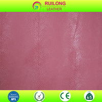 The little snake skin leather design 100% PU leather for making purse ,wallets and shoes