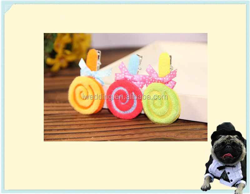 Manufacturers wholesale pet accessories fine candy hair clips