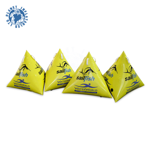 Triangle Yellow Water Inflatable Lake Marker Buoy Sea Swimming Floating Buoy For Race Remark