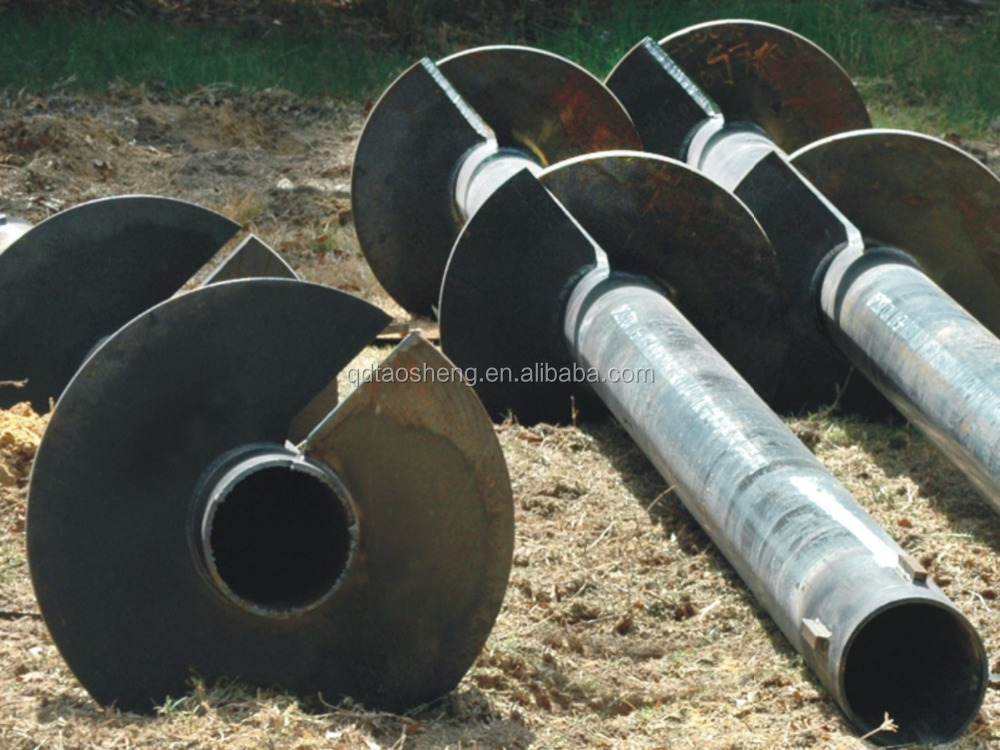 Steel Pipe Anchor Pipe Helical Pile For Solar Construction