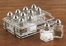 12pcs set Glass mini salt and pepper shaker