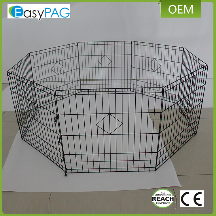 Large capacity outdoor temporary retractable folding mental pet dog fence