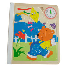 Hot sale children jigsaw puzzle wooden book toy,Cute cartoon children puzzles