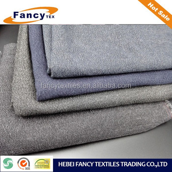 HIGH QUALITY F/W SEASON HIGH WEIGHT T/R/SPANDEX BRUSHED WOOL-LIKE YARN DYED FABRIC