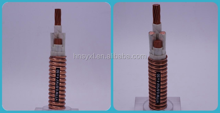 0.6/1kv mineral insulated Flexible power cable Copper sheath