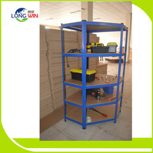 Durable warehouse storage boltless metal frame wire display shelving rack