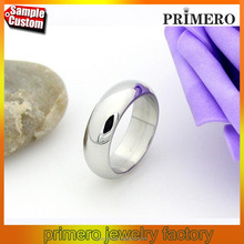 Classic White Gold Plated Stainless Steel Thumb Ring Male Jewelry
