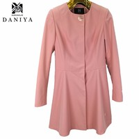 YMYD-7717 2016 Spring Women Clothing Spandex Polyester Winter Ladies Overcoat Korean Fashion Lady Trench Coat Thin Long Coats
