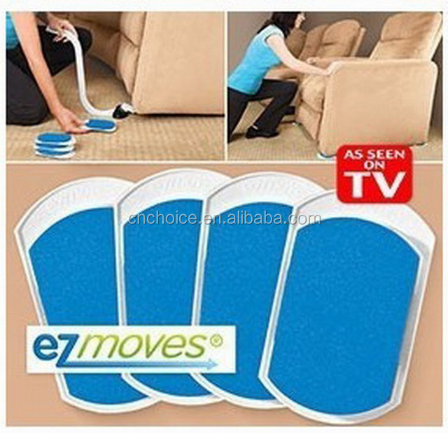 EZ MOVES FURNITURE APPLIANCE MOVING MOVER LIFTER SLIDER SYSTEM SET AS SEEN ON TV