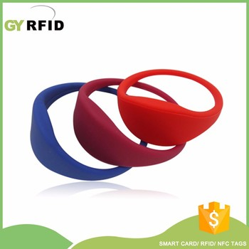WRS25 LRI2K 13.56mhz rfid water proof bracelets for tracking/ swimming pool( GYRFID )