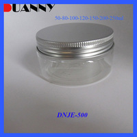 WHOLESALE PET JAR WITH ALUMINUM CAP, EMPTY PETJAR WITH ALUMINUM CAP