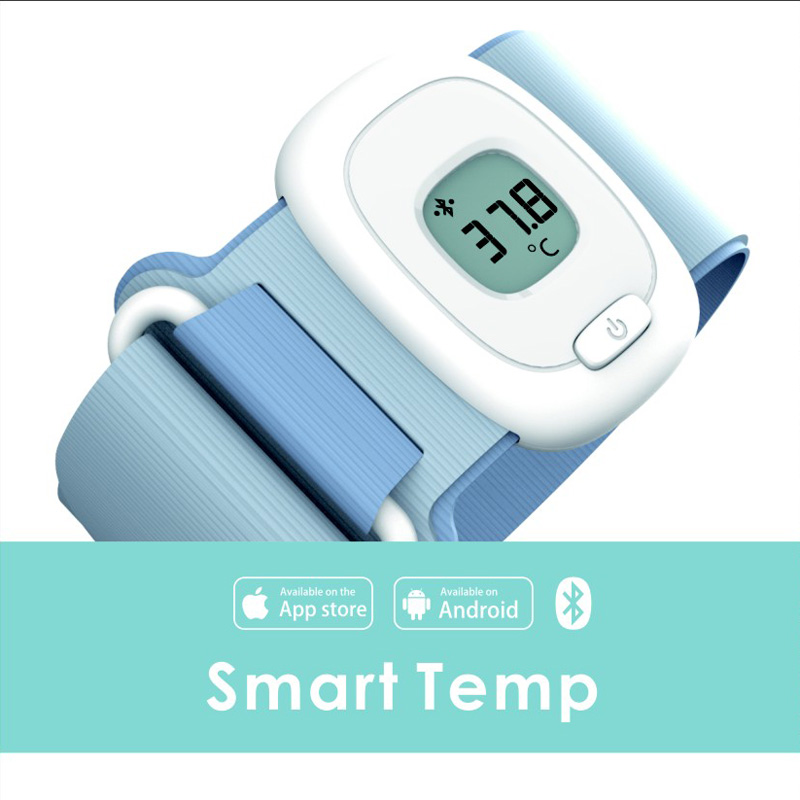 Wearable Baby Thermomete, <strong>Temperature</strong> bluetooth monitoring and high <strong>temperature</strong> warning 24 hours Thermometer for Children