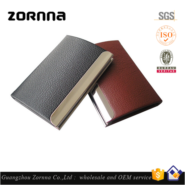 Wholesale Factory Price RFID Aluminum PU Leather Credit Card Holder