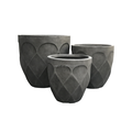 Rich flowery Textured Round Flower Pot for Garden Balcony