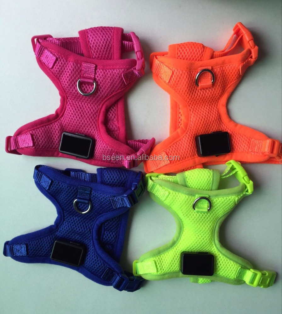 Newest wholesale led dog harness dog car harness solvit dog harness large