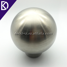 Matte brushed surface aisi 304 material 6 inch 150mm stainless steel ball with drilled hole for decoration