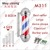Hot sell Black and White Hair salon Barber shop sign Rotating Barber pole