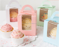 Wholesalers china clear window cupcake box popular products in usa