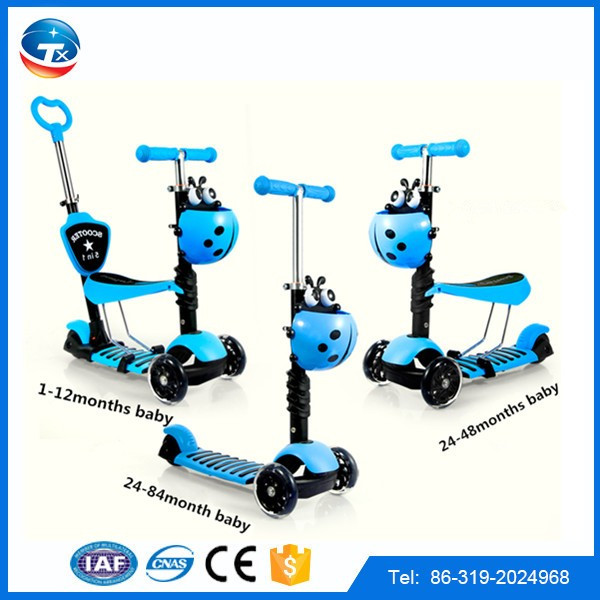 Hot sale EN71 approved child step scooter popualr plastic kids toy scooter/wholesale 3 wheel scooter