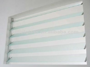 3-6mm glass louvers/shutters for window, glass louver panels