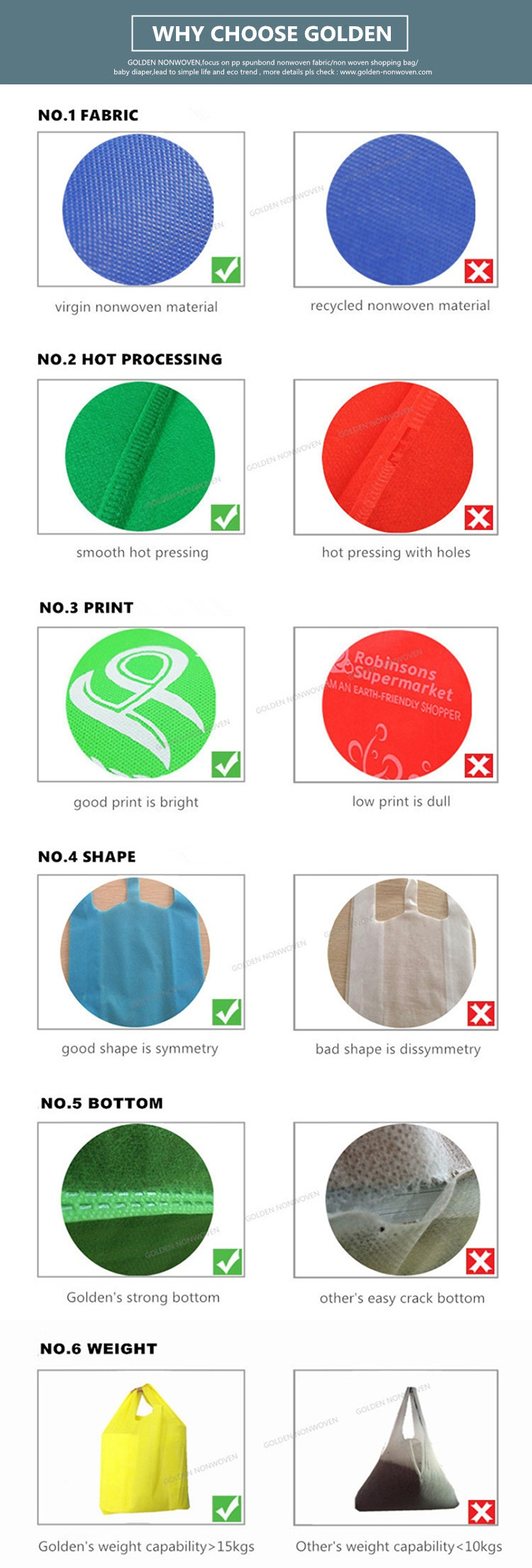 Different Sizes Waterproof Eco-friendly PP Non Woven T-shirt Bag