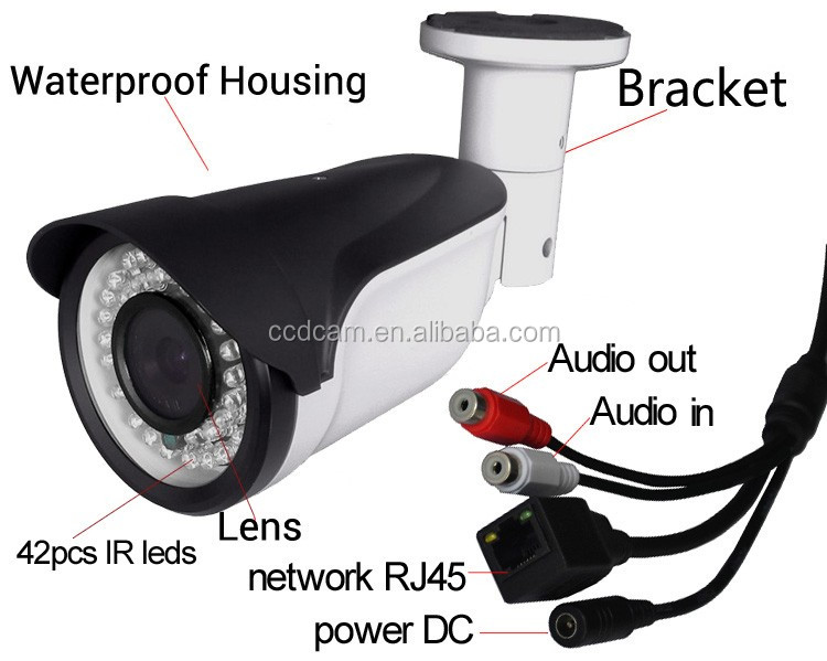 4MP H.265 P2P IP Camera POE Motion Detection 3MP IR Night Vision Security Camera Outdoor